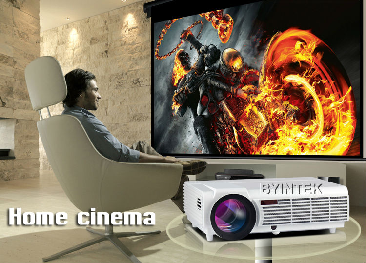 2016 New Digital Wifi Home Theater 1080P Video Bluetooth HDMI LCD Video LED fuLL HD Projector Proyector For Android