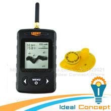 LUCKY Fish finder FFW-718 BLACK Digital Wireless Sonar Sensor FSTN LCD Dot Matrix 45M Fish Detector Monitor(China (Mainland))