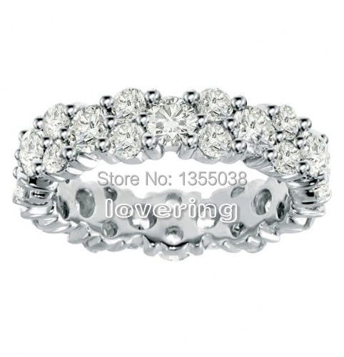 Victoria Wieck Vintage jewelry simulated diamond 10KT White Gold Filled Wedding Band Ring Sz 5-10 Free shipping Gift(China (Mainland))