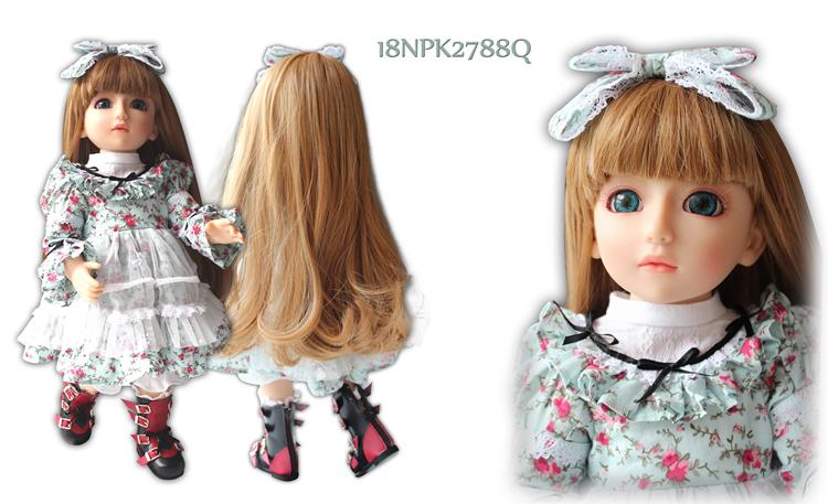 "Free shipment Royal princess fashion 1/4 18"" BJD/SD girl Matryoshka dolls babies American girl interactive bjd doll for baby(China (Mainland))"