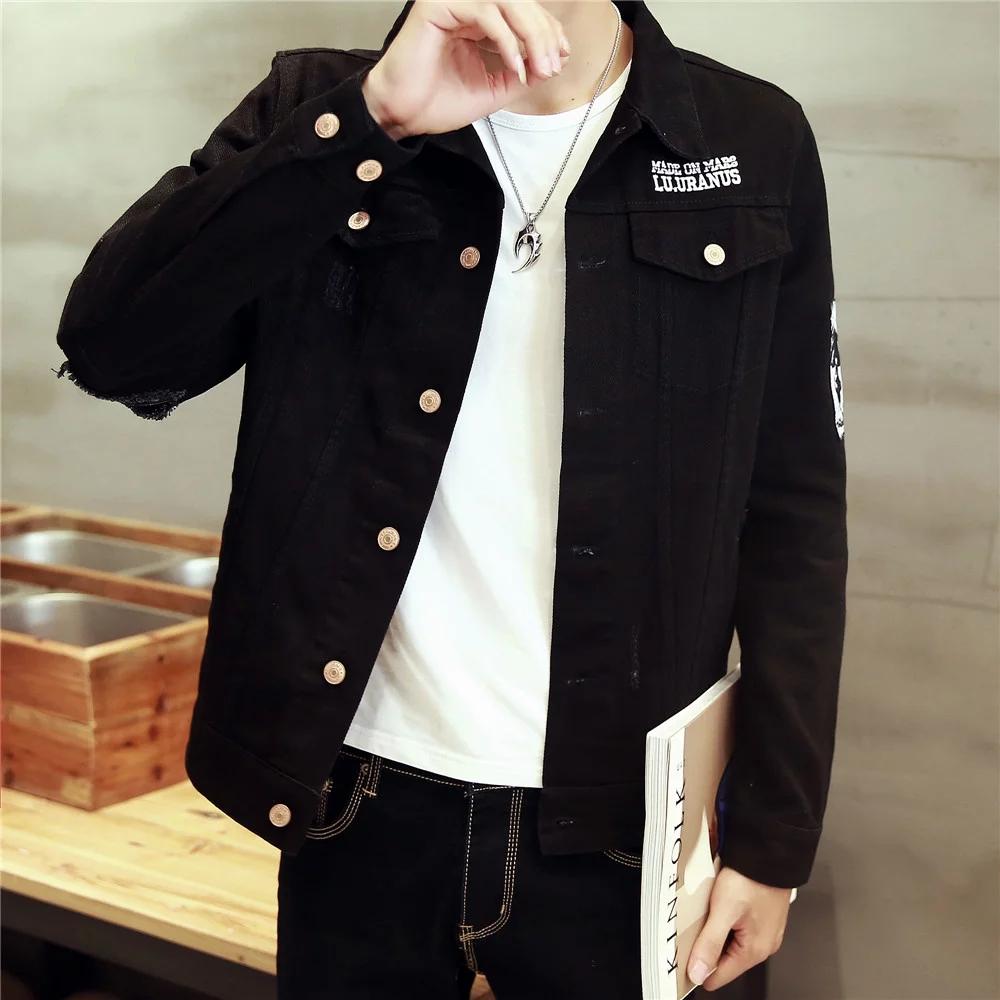 TG6318 Cheap wholesale 2016 new Han edition cultivate one's morality men's denim jacket men fall big yards coat jacket(China (Mainland))