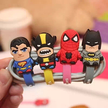 Novelty Super American Heroes Earphone Cable Winder /Cable Holder Organizer for MP3 MP4  ss