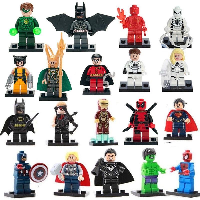 19 pcs/lot l супер герои