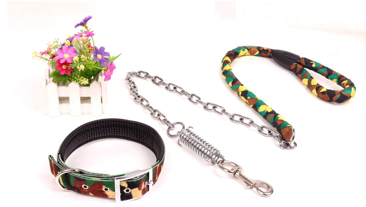 Camouflage Dog Leashes Dog Chains Large Dogs Rope Dog Collar Pet Supplies(China (Mainland))