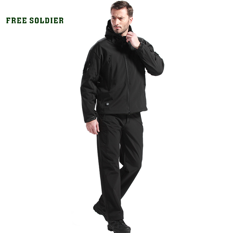 FREE SOLDIER outdoor camping&hiking Clothing Sets hunting tactical Clothing Sets instant waterproof men's jacket and pant()