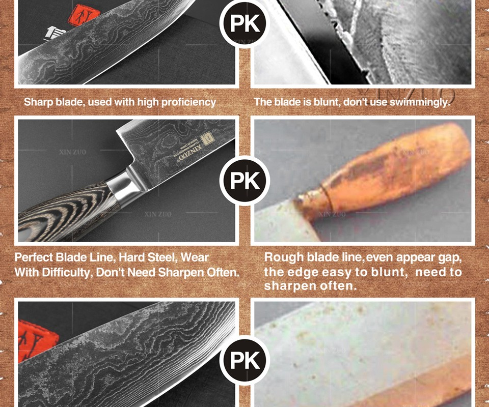 Buy 3 pcs kitchen knife set Japanese 73 layer Damascus kitchen knife Japanese VG10 chef cleaver knife wood handle free shipping cheap