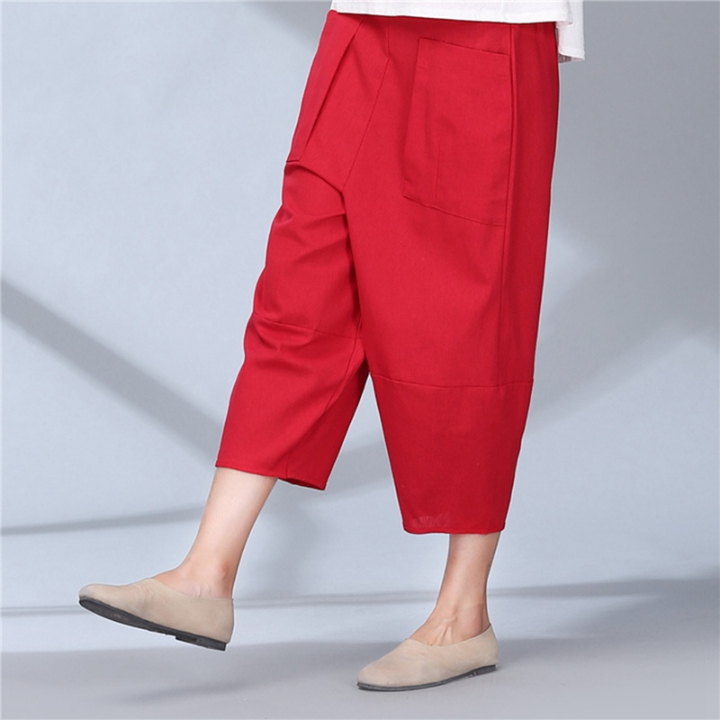 Online Get Cheap Linen Pants Women Mid Calf -Aliexpress.com ...