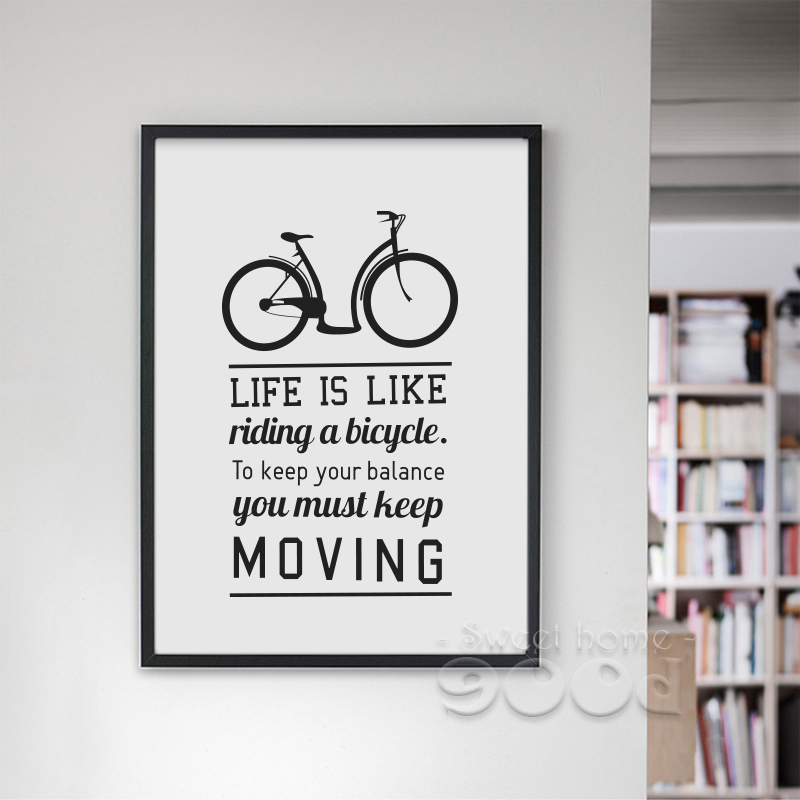 Inspiration Quote And Bicycle Canvas Art Print Poster