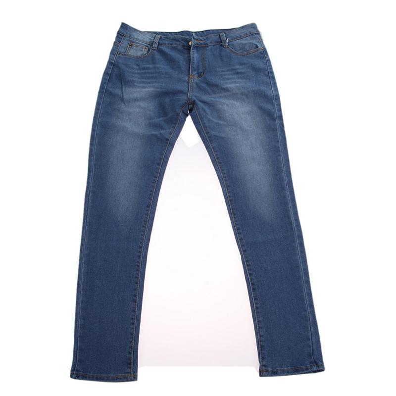2016 New Sexy Women Denim Skinny Pants High Waist Stretch Jeans Slim Pencil Trousers Dark Blue(China (Mainland))