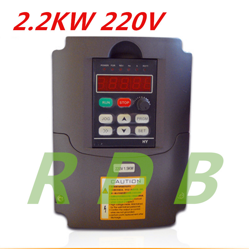 NEW HY 2.2KW 220V AC Frequency Inverter 400HZ VFD VARIABLE FREQUENCY DRIVE WITH Potentiometer Knob AC Inverter(China (Mainland))