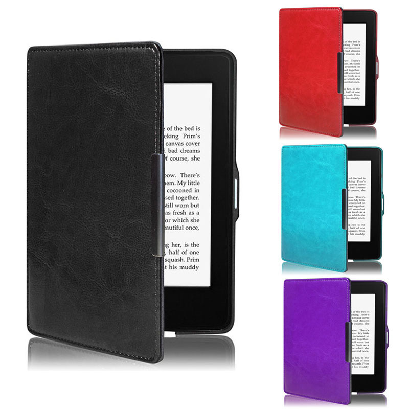 Premiu Ultra Slim Leather Smart Case Cover For New Amazon Kindle Paperwhite 5 Whale(China (Mainland))