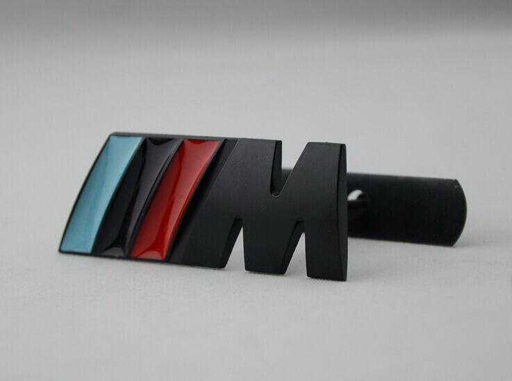 M power Motorsport Metal Logo Car Sticker Rear Trunk Emblem Grill Badge for BMW E46 E30 E34 E36 E39 E53 E60 E90 F10 F30 M3 M5 M6(China (Mainland))
