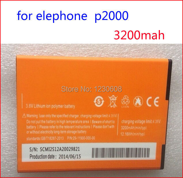 Гаджет  for Elephone P2000 Battery Large 3200mAh In Stock 100% Original for elephone p2000c Smart Mobile Phone Free Shipping None Электротехническое оборудование и материалы