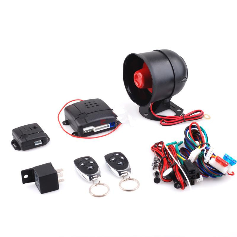 car immobilizer One Way Car Alarm Vehicle System Protec tion Security System Keyless Entry Siren + 2 Remote Control Burglar(China (Mainland))