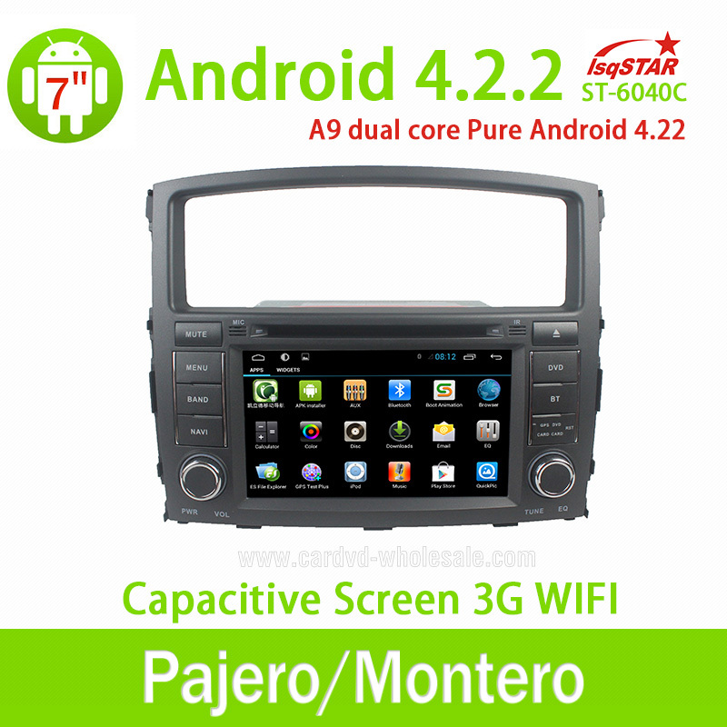 Pure android 4.2 Car multimedia dvd for Mitsubishi Pajero V97/V93(2006-2011) with gps navigation Radio Steering wheel control(China (Mainland))