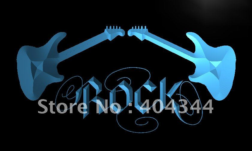 LB047- Guitar Rock n Roll LED Neon Light Sign home decor crafts(China (Mainland))