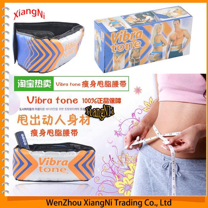 NEW 2015 Body Wrap Care Beauty Bulding Weight Loss Slimming Back Massager Vibro Shape Sauna Fat Burning Vibra Tone Massage Belts(China (Mainland))