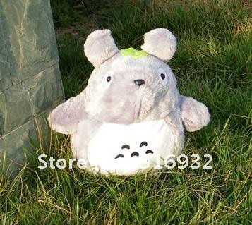 J1 Free Shipping Anime MOVIE My Neighbor TOTORO Plush Toy Doll about 35cm, 1pc  Super cute