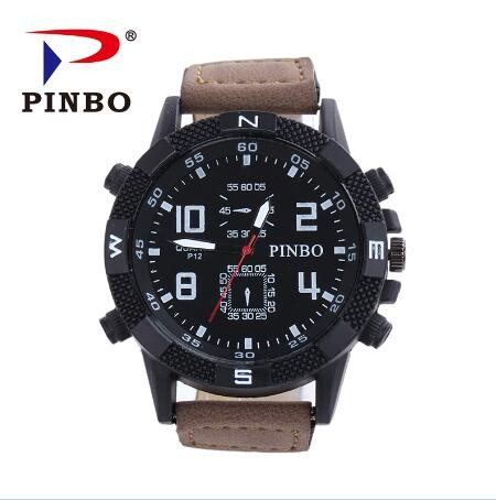 New-PINBO-Brand-Men-Big-Dial-Casual-Quartz-Watch-Men-Fabric-Mixed-color-Leather-Strap-Military (2)