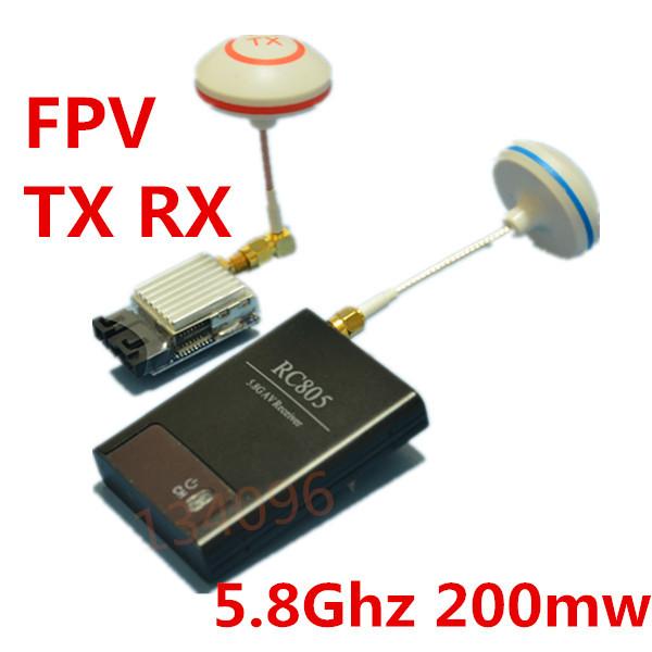 Boscam FPV Transmitter Receiver 5.8Ghz 200mw 5.8G Antenna Audio Video 2Km TS351