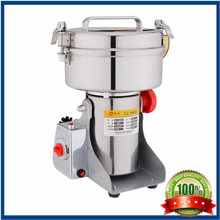 Moinho de pimenta electric 2000g Swing type Food grinder Stainless steel Chinese medicine mill ultrafine powder Milling machine(China (Mainland))