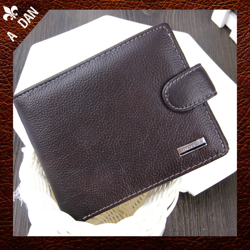 new 2014 men wallets famous brand mens short Design wallet male money purses Luxurious Genuine Leather