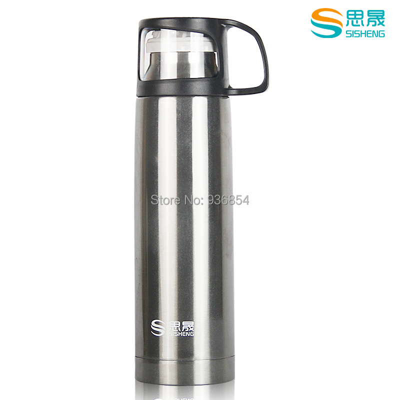 2014 new stylish thermos bottle 500 ml high quality stainless steel 36 hours thermal water cup vacuum flask mug drinkware(China (Mainland))