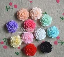 Free Shipping!Mix  Kawaii Resin Flower , FlatBack Cabochon for Hair Bow Center, DIY