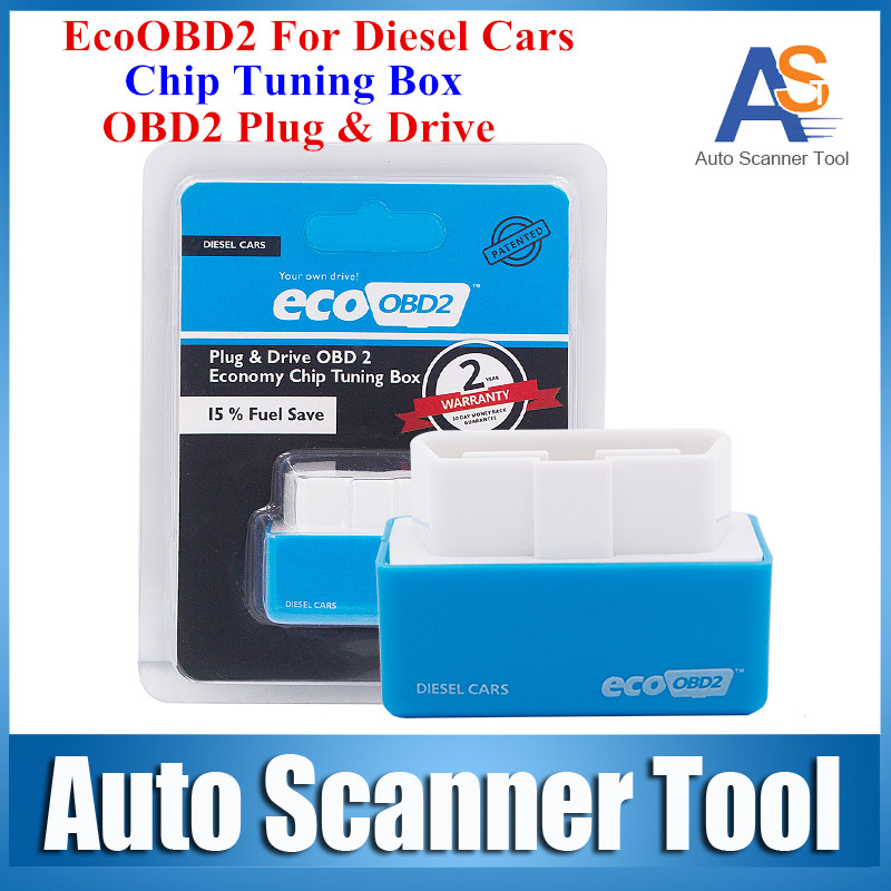 Economy EcoOBD2 Chip Tuning Box Blue Color 15% Fuel Save Eco OBD2 For Diesel Cars More Power & Torque Eco OBD Diesel Interface(China (Mainland))
