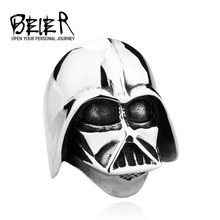 Star Wars Darth Vader mask shape ring Jewelry High Quality 316L STAINLESS Steel BR8235  US size(China (Mainland))