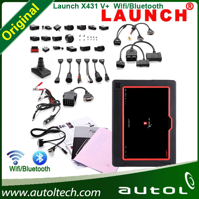 Wifi supported Launch X-431 V+ can share maintenance data and case library Fashion Car diagnostic tool X431 V+(China (Mainland))