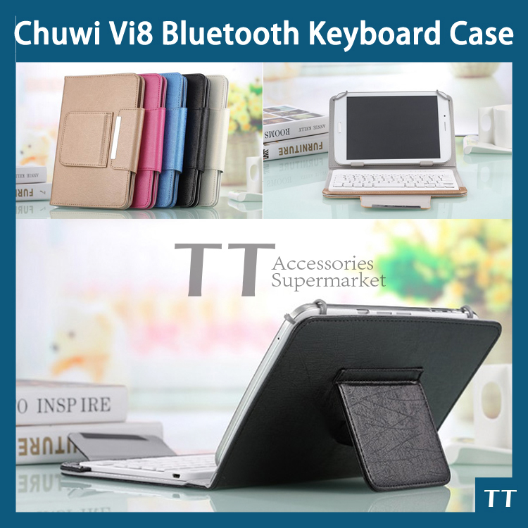 Free shipping Original 8 Inch Chuwi VI8 Tablet PC Bluetooth Keyboard Case + free screen protector + touch pen(China (Mainland))