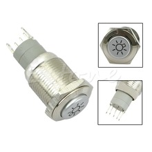 New for 16mm Car Headlights symbol 12V LED Push Button Metal ON/OFF Latching Switch(China (Mainland))