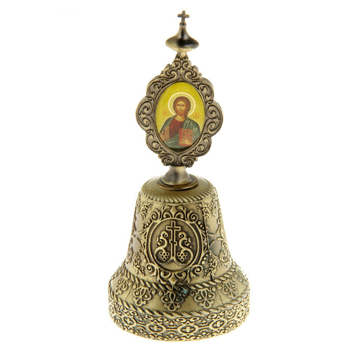Antique small bells. Vintage Cross ornaments.Church bell. Metal gold crafts.Decorative wall hangings decor for indoor&ourdoor(China (Mainland))