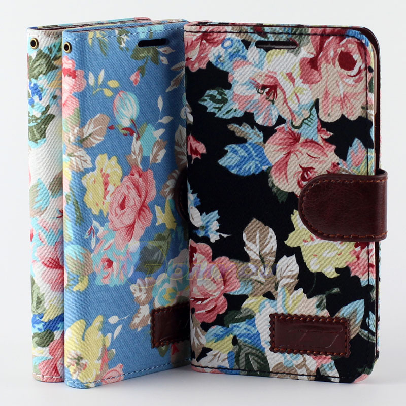 PU Leather Flip Flower Pattern Clip Wallet Case Cover Samsung Galaxy Note 3 Lite Neo N7505 N7506V Mini Stand Holder - Shenzhen TOMYOU Technology Co.,Ltd store