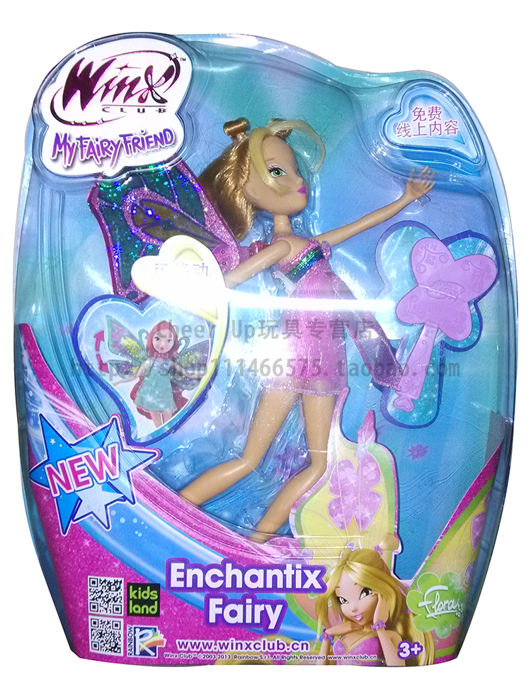 Free Shipping New Original Winx Club Enchantix Fairy Kids Toys Flora Dolls For Girls Christmas Gifts(China (Mainland))