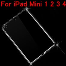 For iPad Mini 4 Cases Luxury Soft TPU Gel Crystal Clear Case For iPad Mini 2 3 4 Slim Anti-scratch Transparent Tablet Cover(China (Mainland))