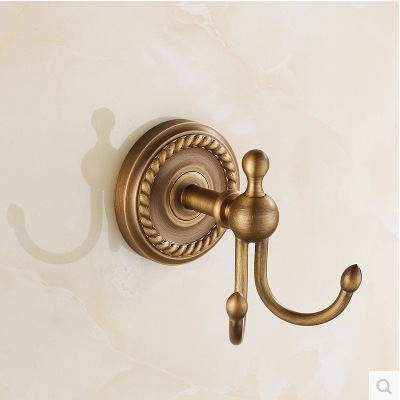 European Wall Mounted Bronze Brushed Copper 1-3 Europe Robe Hooks Copper Hook Retro Wall Clothes Hangers Coat Hook Aw3(China (Mainland))