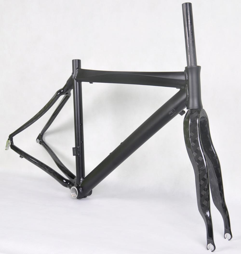 48/52cm Alu.frame+carbon road bike frame straight carbon fork 700c carbon frame China cheap carbon road bicycle bike(China (Mainland))