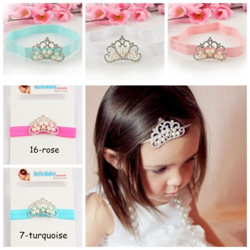 1 Pcs Infant Tollder Crown Pearl Headband Princess Crown Headwear Baby Kids Girls Hair Accessories(China (Mainland))