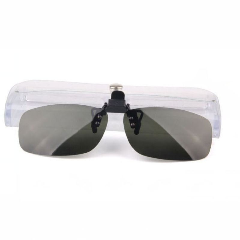 Polarized Clip On Flip Up Rimless Sunglasses Cheap ...