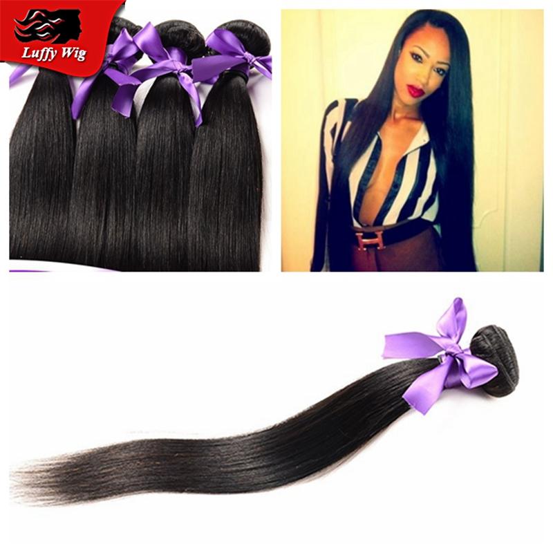 7A Peruvian virgin hair straight Unprocessed virgin Peruvian hair weave bundles remy human hair weave Weft 4pcs Lot<br><br>Aliexpress