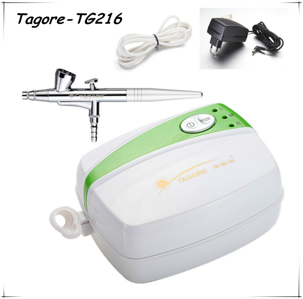 Tagore TG216 High quality Hot sale Cheap Professional Portable New Mini Airbrush Kit Makeup System(China (Mainland))