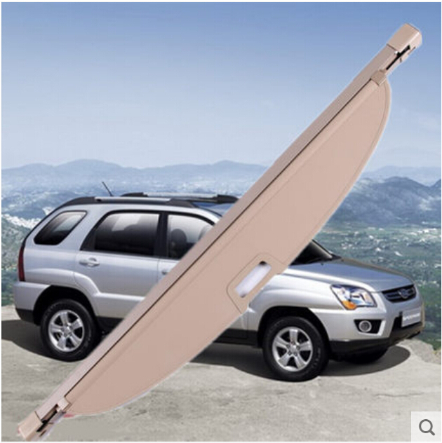 High Quality Rear Cargo privacy Cover Trunk Screen for Kia Sportage 2009 2010 2011 2012 (black, beige)(China (Mainland))