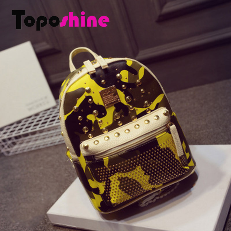 Top Sale 2015  New Style Of Camouflage Backpack Bags Of Women