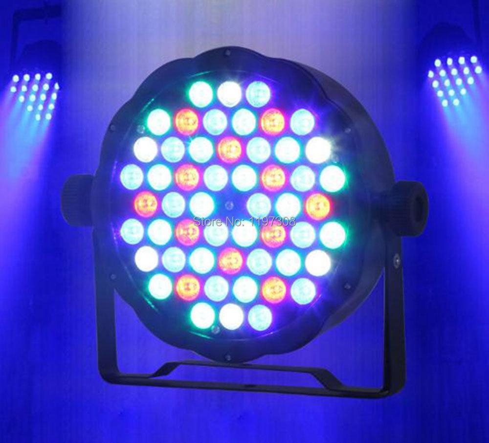 54pcs 1W RGBW LED PAR light wall washer DMX stage lighting control panel wash fixture luz led ...