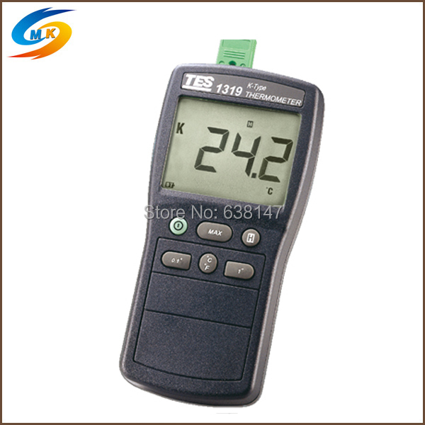 Data Hold Function K Thermocouple Input Industrial Digital Thermocouple Thermometer TES-1319(China (Mainland))