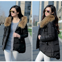 Casual Women's Winter Jacket Down Outerwear Female Hooded Fur Collar Coat Cloak Padded Parkas Women's Clothing Plus Size LQ116