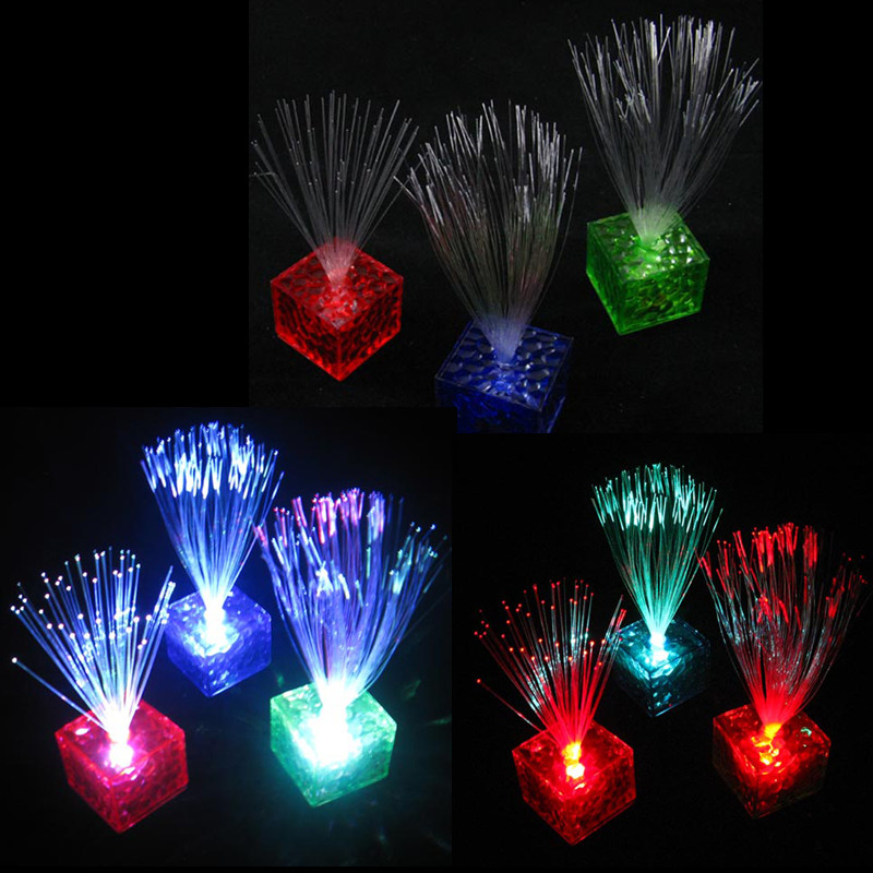 Romantic Gift Color Changing Optical Fiber Flashing Party Energy-saving LED Night Light Home Club Party Valentine's Day Gift(China (Mainland))