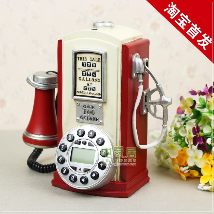 Taobao starting / tanker modeling antique telephones / Creative vintage telephone / with a small bell(China (Mainland))